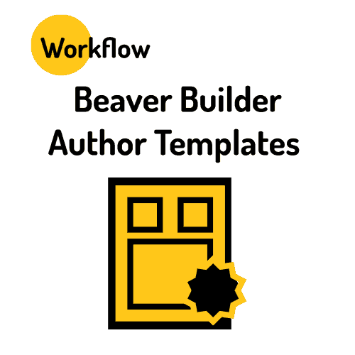Beaver Builder Author Templates