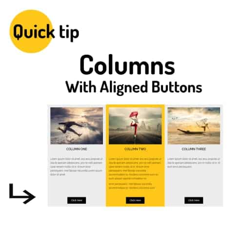 Beaver Builder Columns With Aligned Buttons