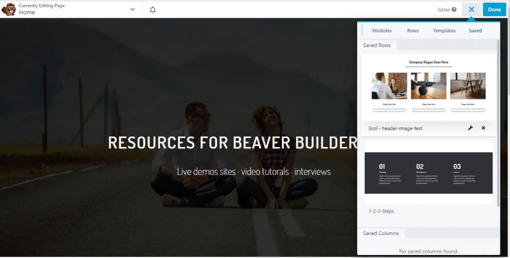 Beaver Builder Saved Rows