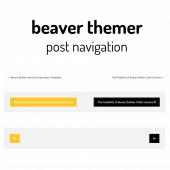 Beaver Themer Post Navigation