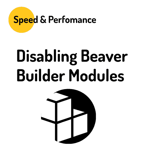Disabling Beaver Builder Modules