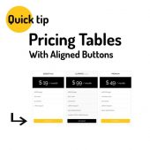 Pricing Table Equal Heights